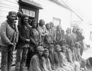 Innu traders at Davis Inlet, Labrador, 1903