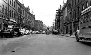Water Street before Confederation.  http://www.heritage.nf.ca/society/tradecns3.html