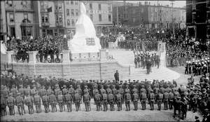 unveiling national war memorial, st john's